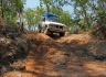 Gaining experience in 4WD driving with our new Monster Car - the Tandem is comfortably traveling on the roof carrier ;-)