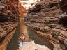 Refreshing dip at the Karijini National Park